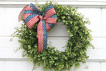 Stars and Stripes Boxwood Wreath