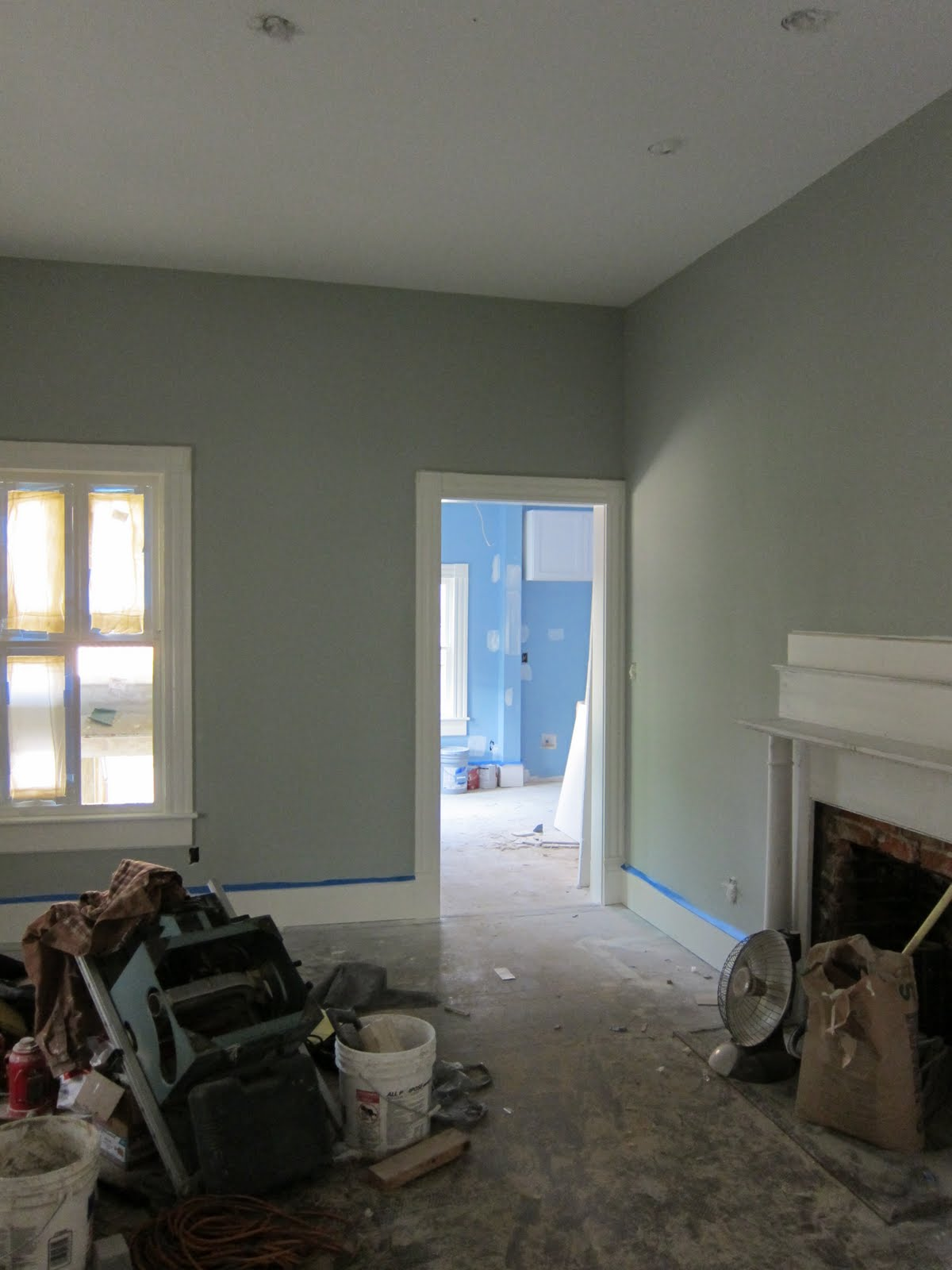 Petty home rainbow bright - Sherwin williams comfort gray living room ...