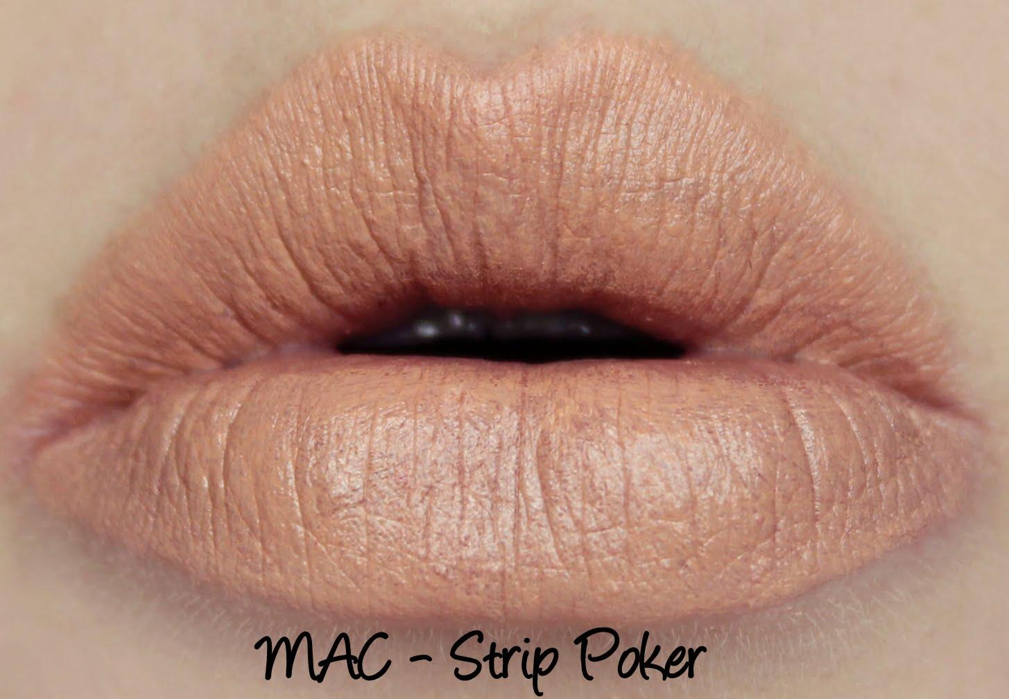 MAC Monday: MAC X Kelly Osborne - Strip Poker Lipstick Swatches & Review