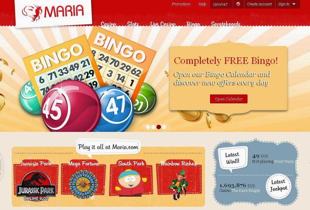 Maria Bingo Screen