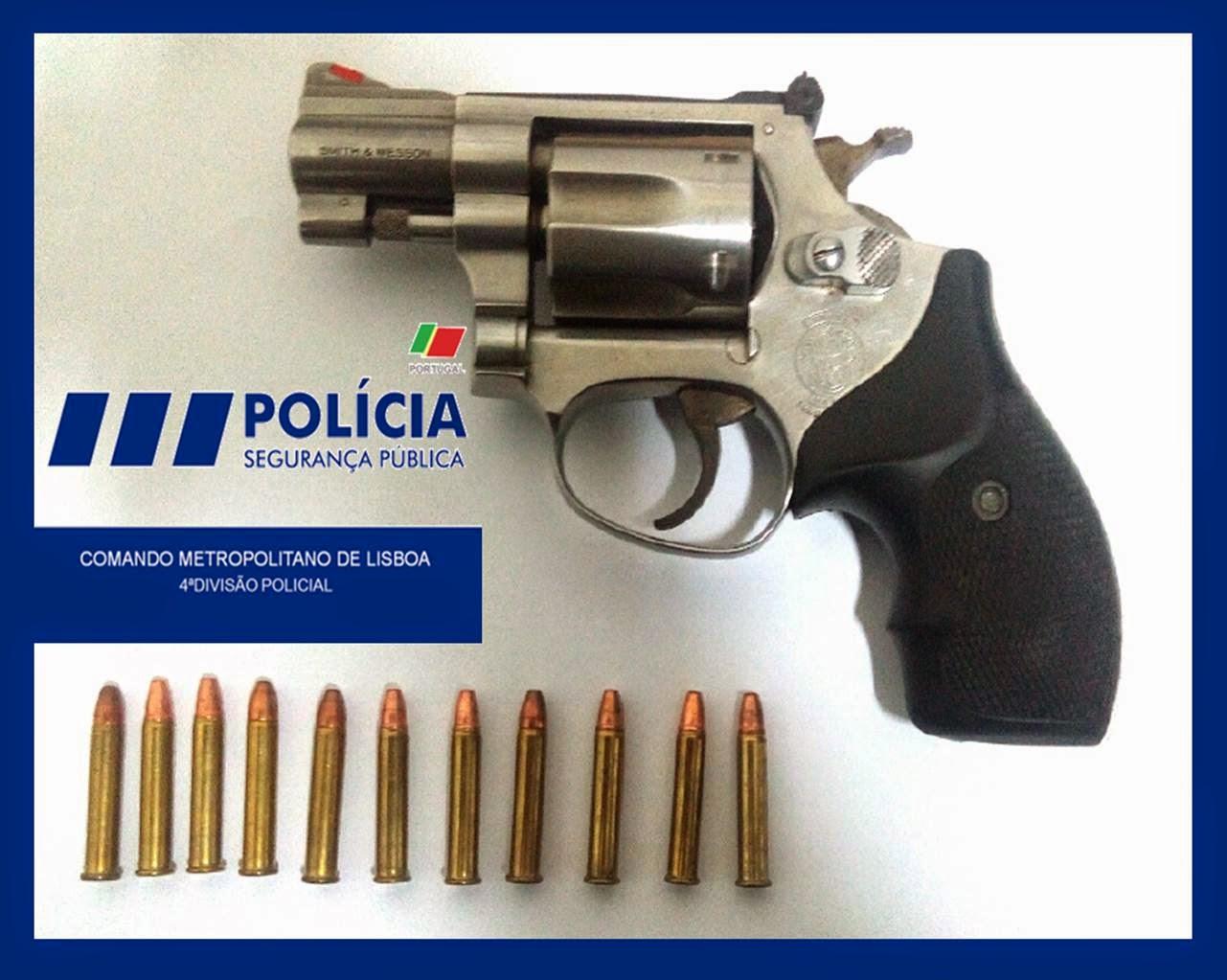 Comando metropolitano de lisboa da psp psp recupera arma for Uso e porte de arma