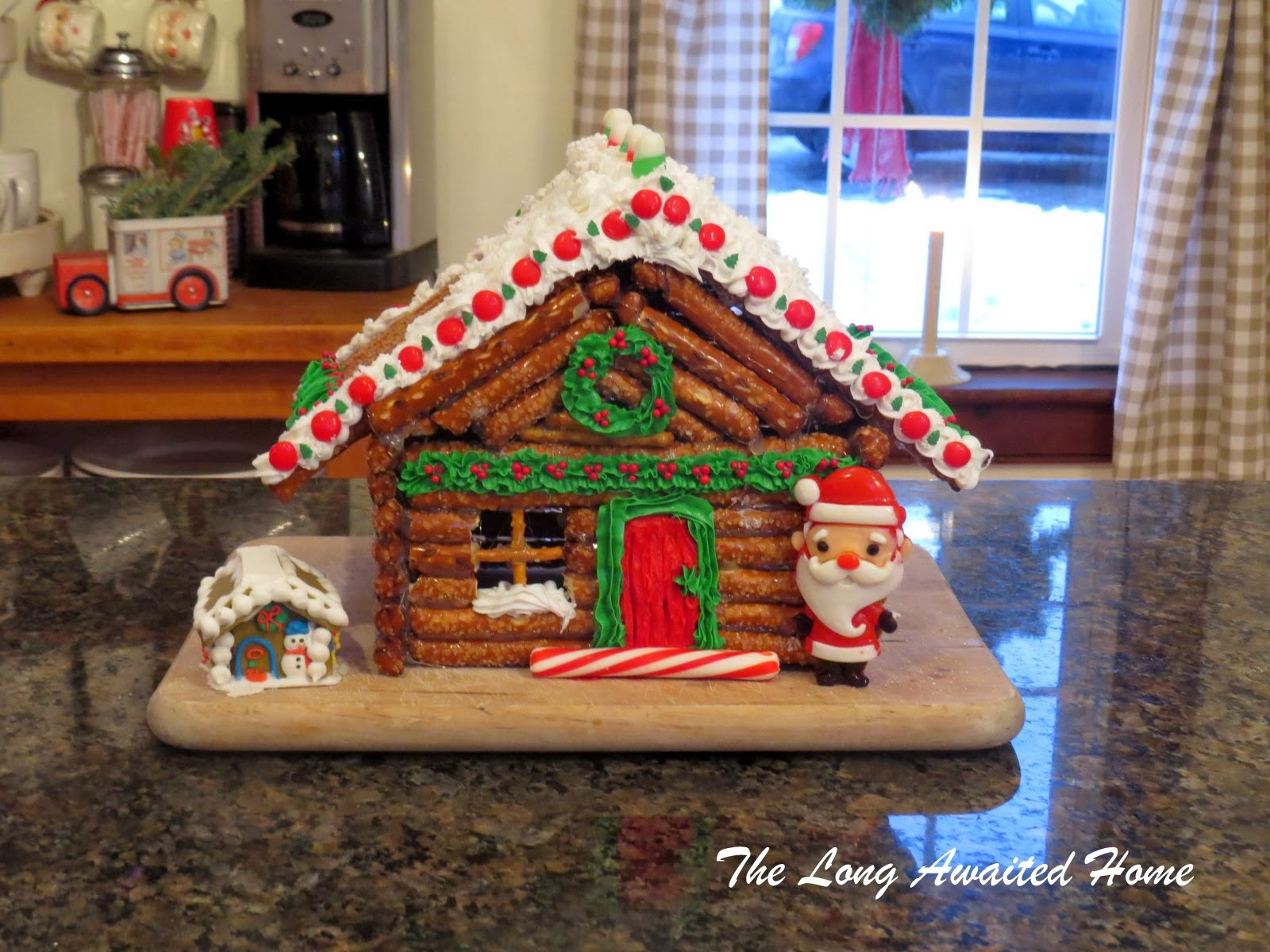 The Long Awaited Home: Gingerbread House aka Pretzel Log Cabin Gingerbread House Design Out Html on gingerbread roof designs, art designs, valentine's day designs, gingerbread architectural designs, mother's day designs, cupcakes designs, bread designs, gift designs, little houses designs, cobblestone driveway designs, pumpkin designs, gingerbread porch designs, gumball machine designs, gingerbread castle designs, vanilla house designs, upscale club designs, christmas designs, dessert designs, elf designs, chicken designs,