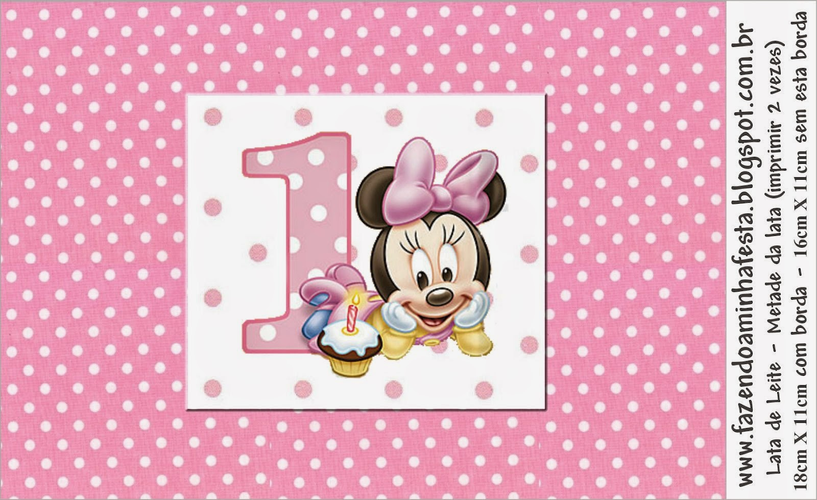 minnie first year with polka dots free printable candy bar labels