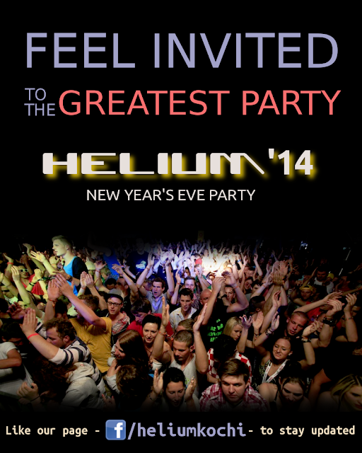 Helium - new year eve party - kochi -cochin