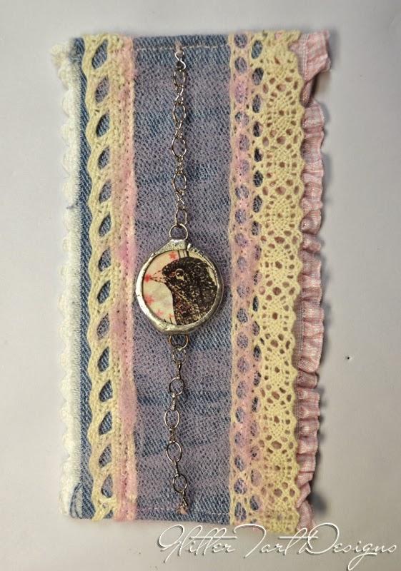 Glitter Tart Designs Fabric Amp Lace Cuff Bracelet Tutorial