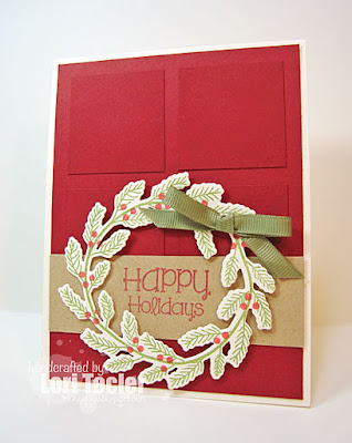 Happy Holidays card-designed by Lori Tecler/Inking Aloud-stamps from SugarPea Designs