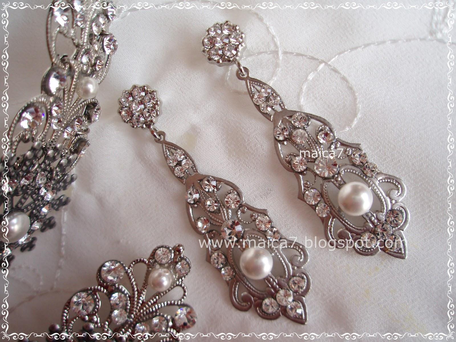 Conjunto babieca perlas complementos para novias - Complementos de bisuteria ...