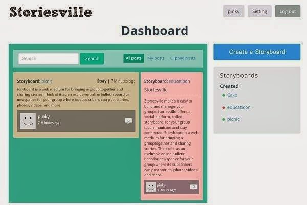 StoriesVille - Organize stories on your Storyboards