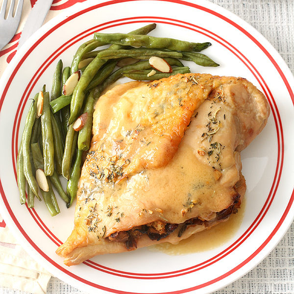 Caramelized Onion and Cranberry Stuffed Turkey Breasts by Chocolate Moosey