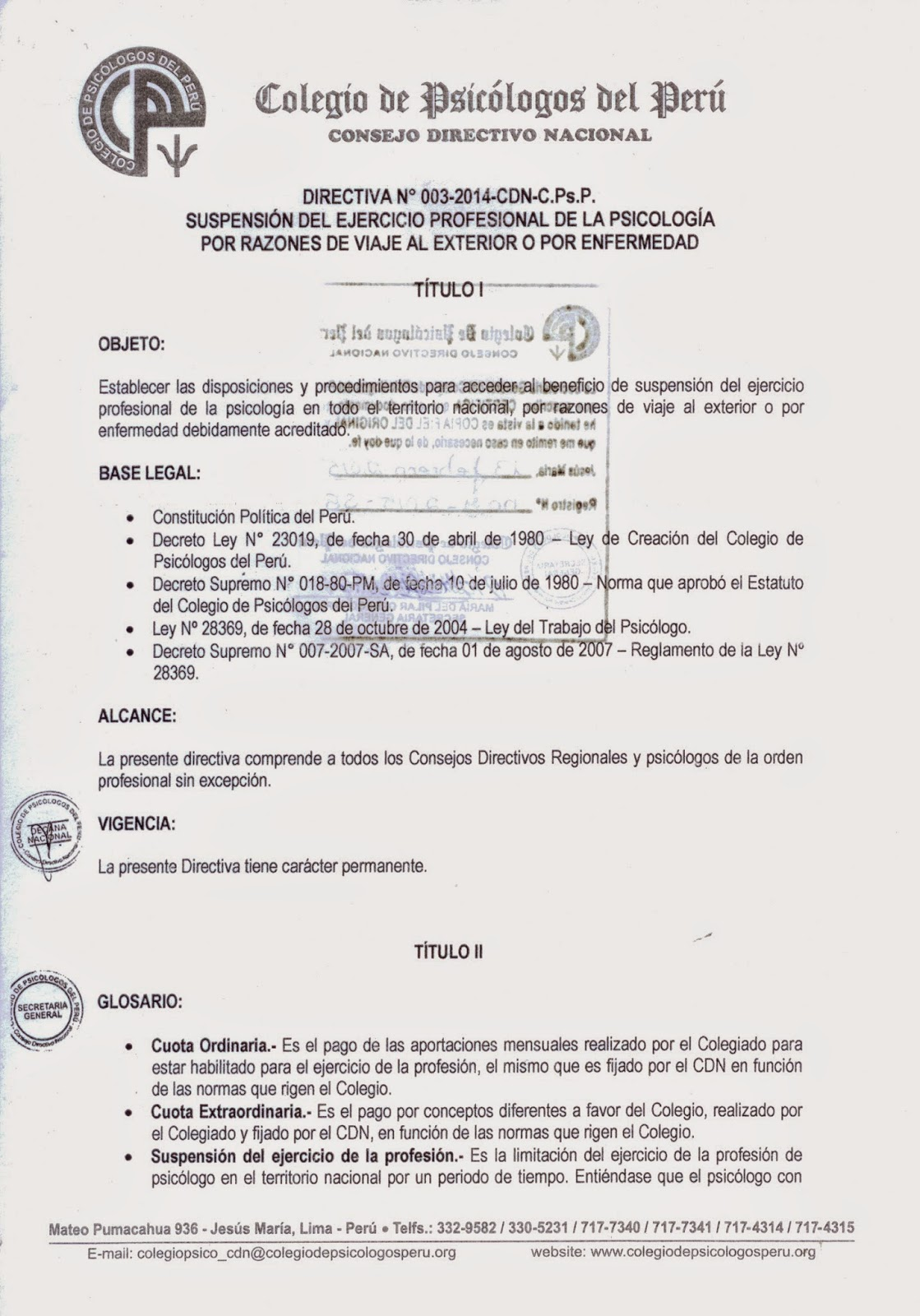 Directiva Nº 003-2014-CND-P.ps.P