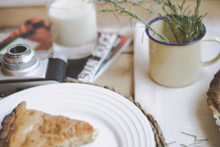 Receta quiche bacón y cebolla caramelizado