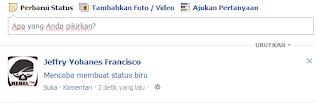 Status Biru Di facebook