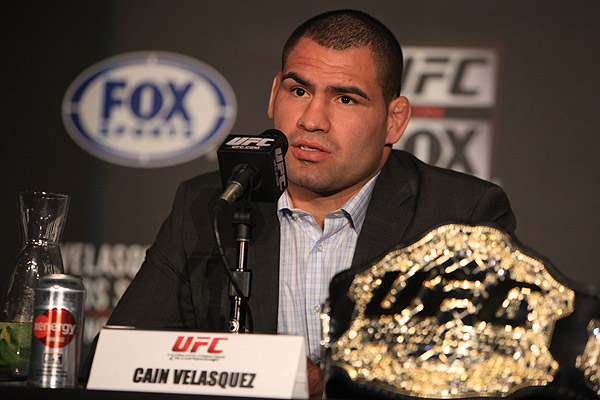 ufc mma fighter former heavyweight champ cain velasquez press conference picture image