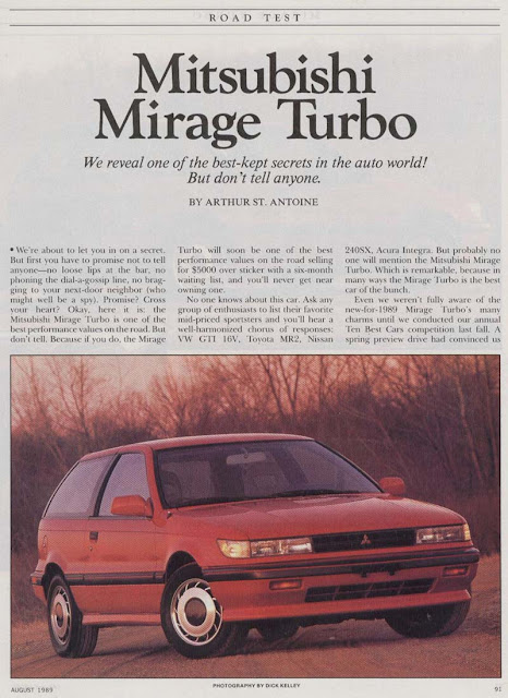 Mitsubishi Mirage Turbo C50 opis test hot hatchback 日本車 三菱 ミラージュ