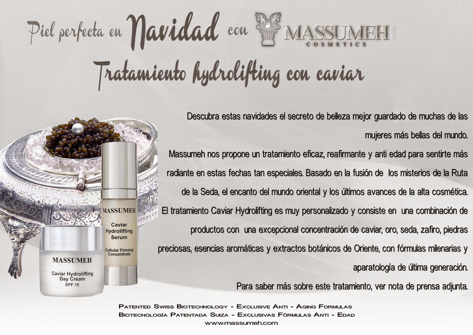 Piel perfecta en Navidad con Massumeh y su tratamiento hydrolifting con caviar