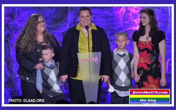 Jennifer Tyrrell Bridgeport Ohio Accepts Award from GLAAD