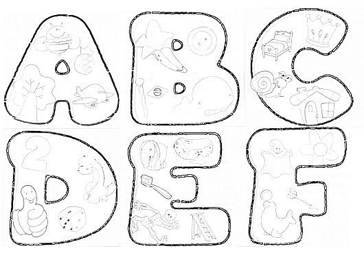 Alfabeto Ilustrado   Molde