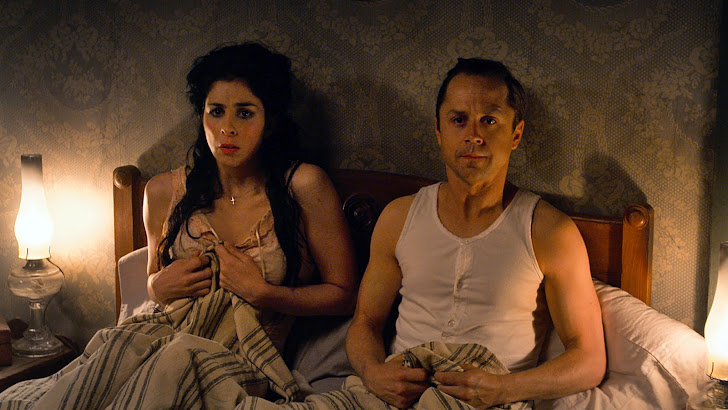 giovanni ribisi as edward and sarah silverman as ruth in a million ways to die in the west