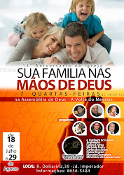 """13 Aniversário da Ass de Deus A Volta do Messias""."