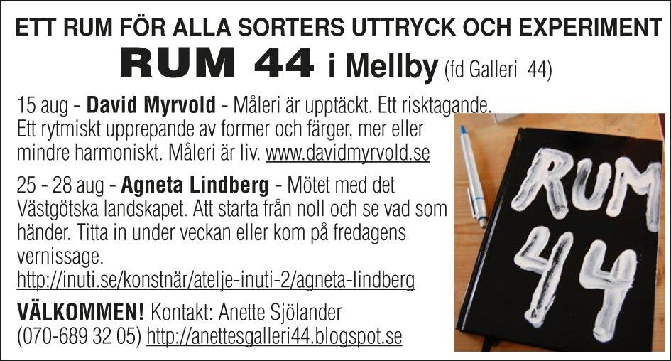 I höst på RUM 44 i Mellby !!