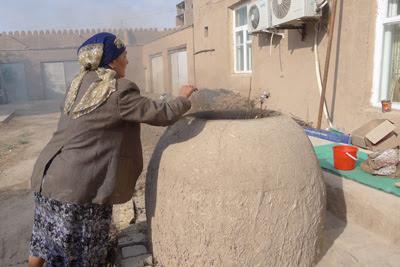 khiva uzbekistan breadmaking, uzbekistan art craft tours
