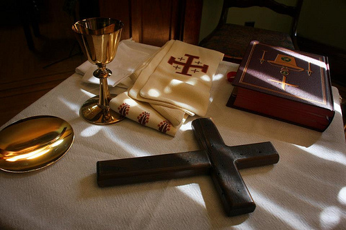 Christ present to us and with us in the Holy Eucharist at Visitation Monastery