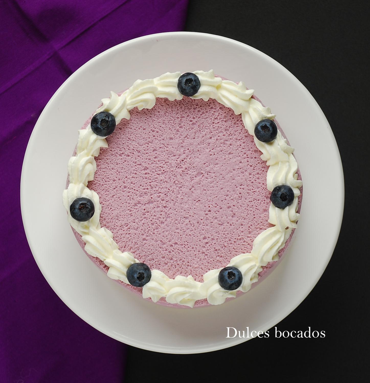 Tarta de yogurt y arándanos - Dulces bocados