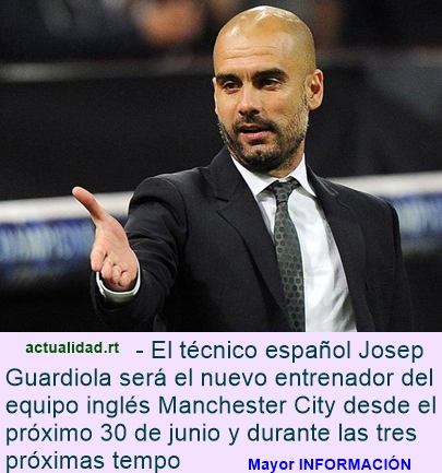 Oficial: Guardiola dirigirá al Manchester City en las próximas tres temporadas