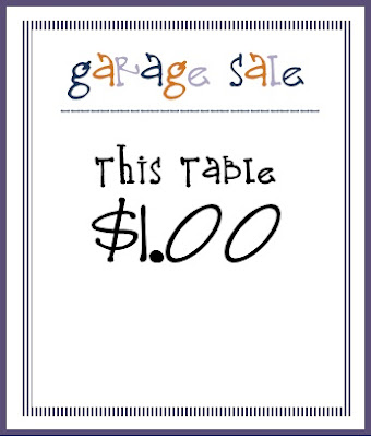 Unforgettable image in garage sale price tags free printable