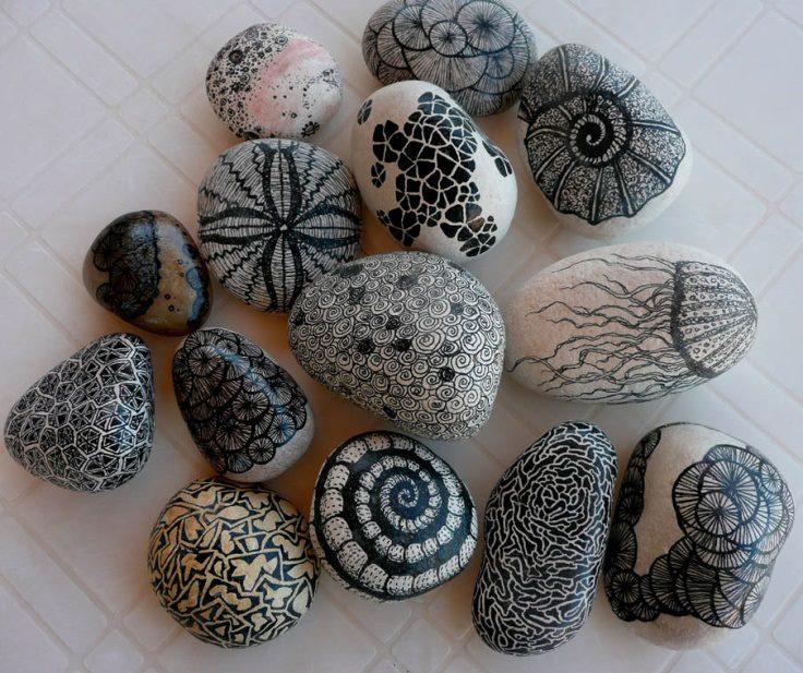 malowane kamienie dekoracja z kamieni eco manufaktura