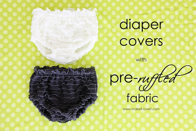sew ruffled diaper covers for baby