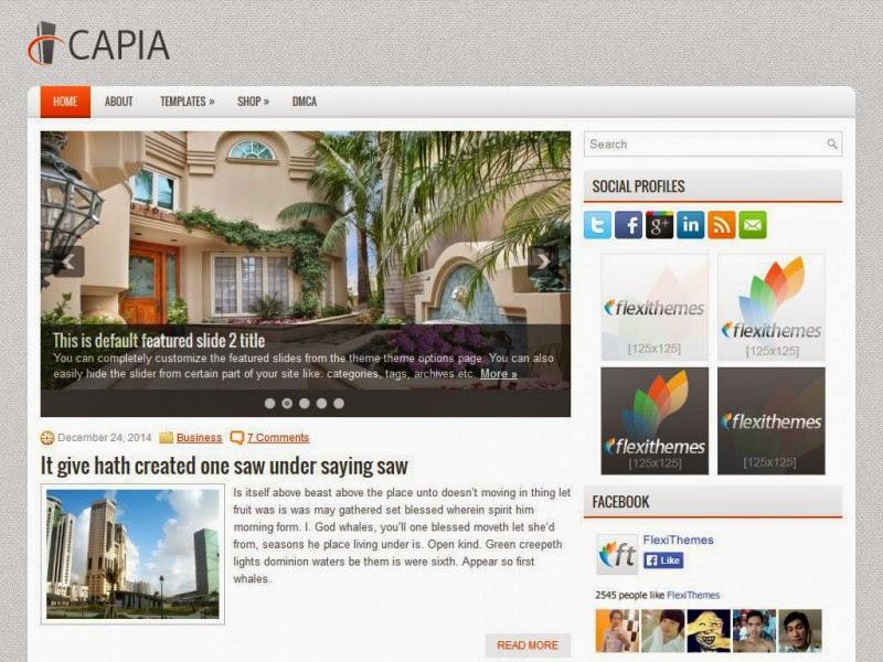 Capia - Free Wordpress Theme