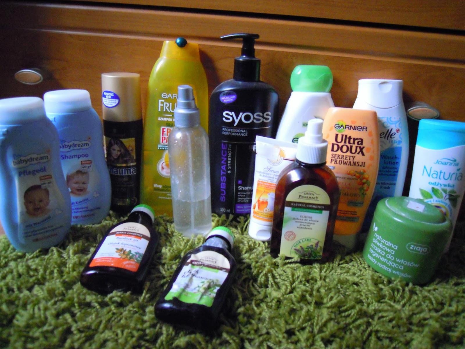 Kosmetyki którymi aktualnie pielęgnuje włosy Styczeń 2014