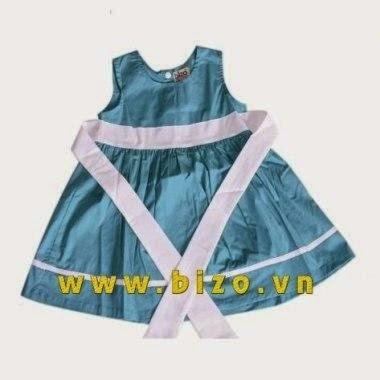 váy xanh dương cho bé gái