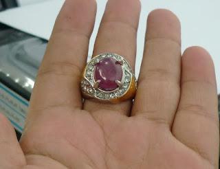 Batu Natural Ruby Corundum With Memo