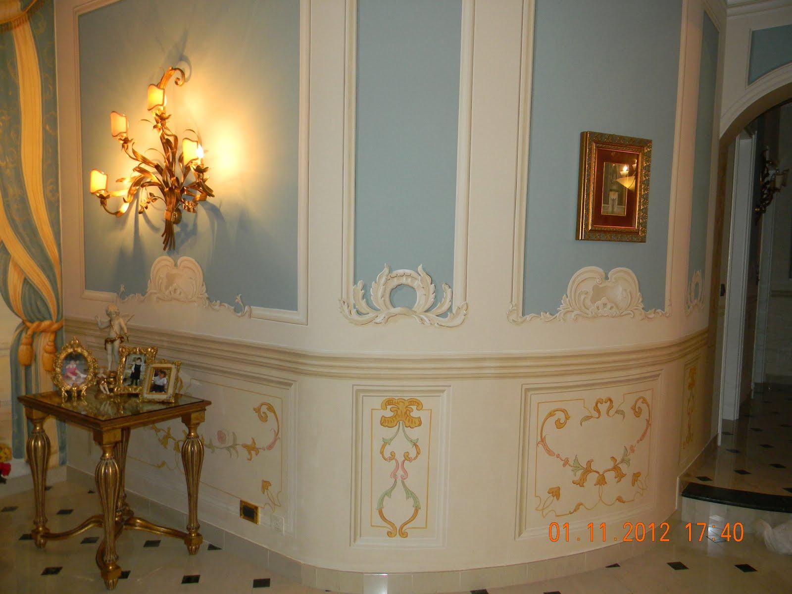 Decorazioni e tinteggiature di niki viterbone decorazioni interne ed esterne tromp l 39 oeil - Decori in gesso ...