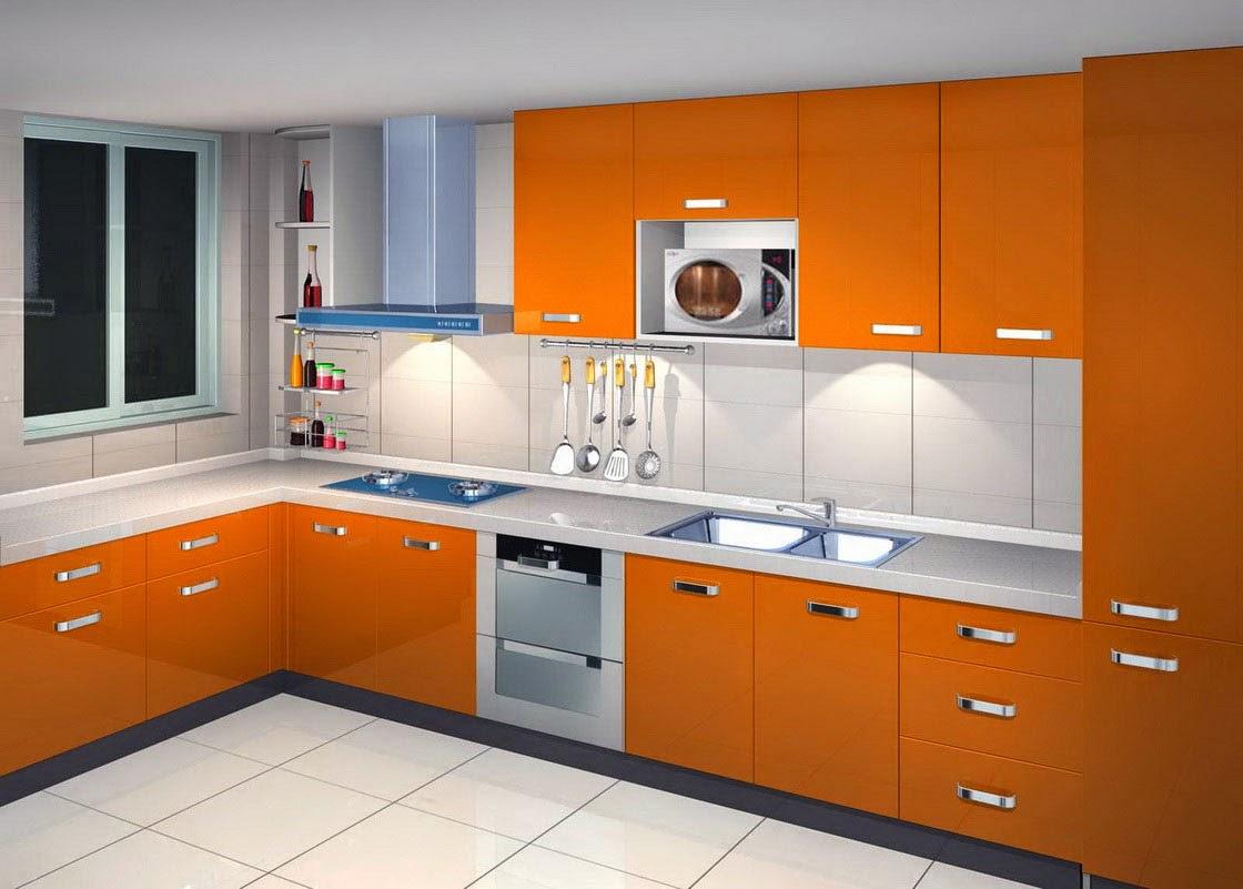 Creative-Design-Interior-Minimalist-Kitchen-With-Color-Orange