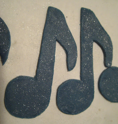 Music Note Cupcakes - Fondant Music Notes 3