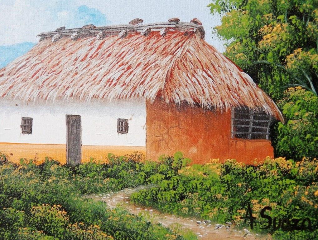 Cuadros modernos cuadros bonitos paisajes del campo for Pinturas para casas de campo