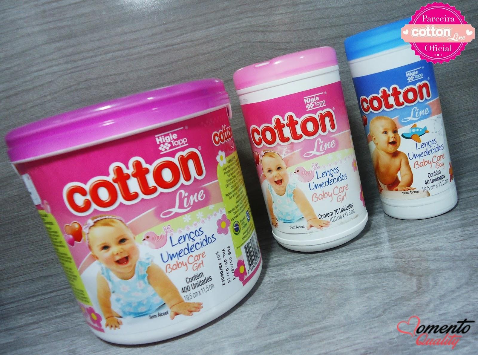 Lenços Umedecidos Cotton Line
