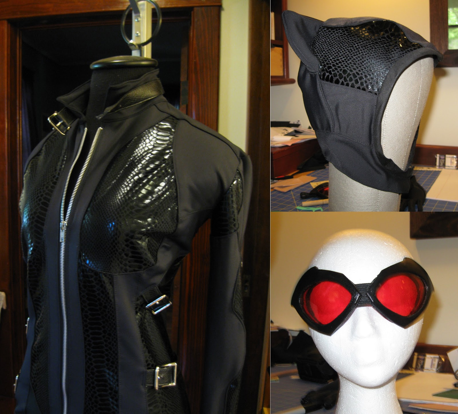 Extra details. & The Literary Assassin: Arkham City Catwoman costume