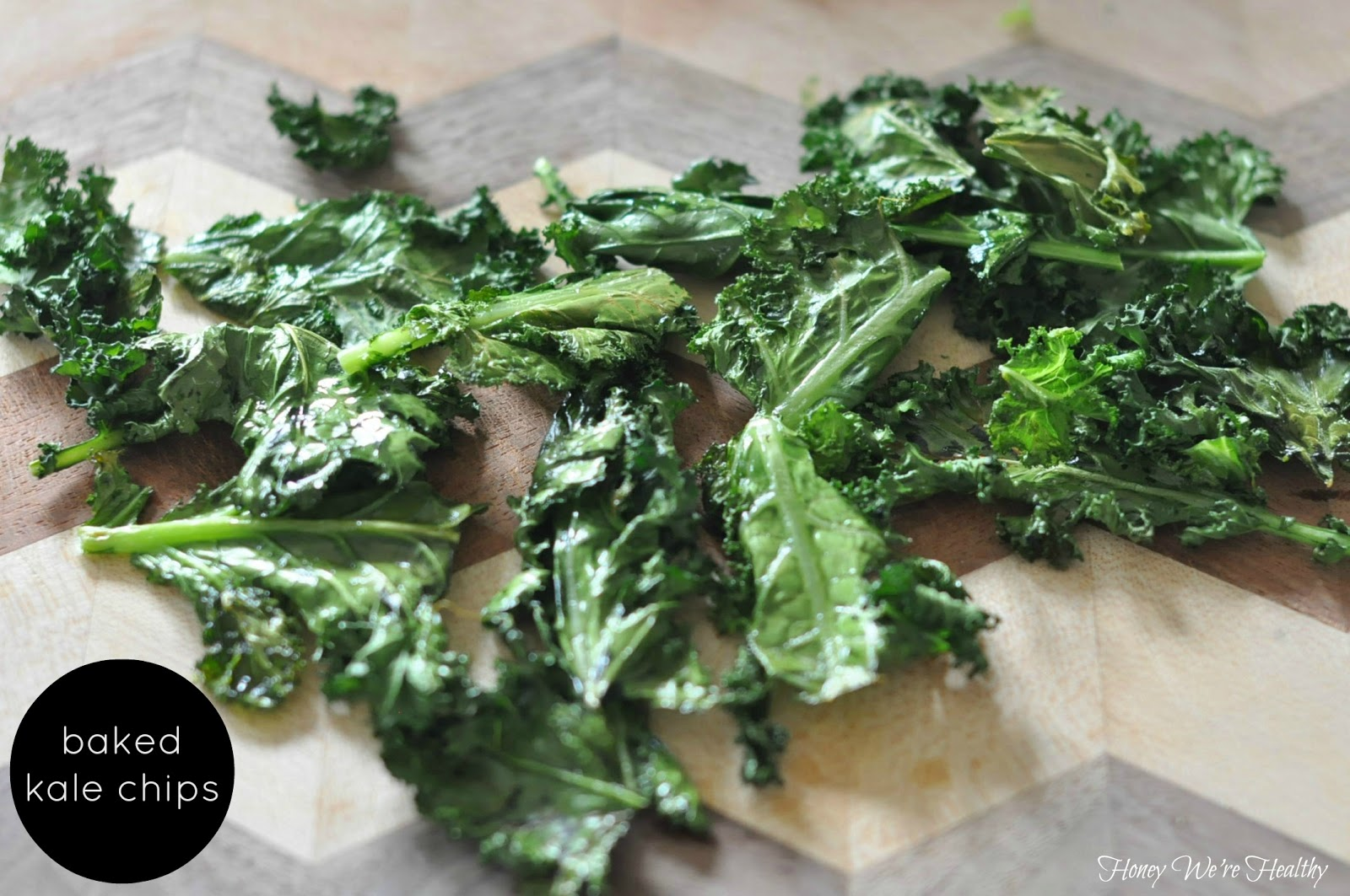Honey We're Healthy: Baked Kale Chips
