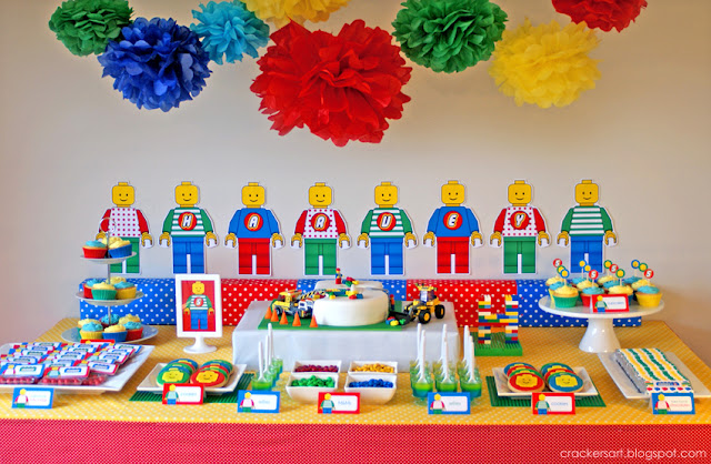 Kara 39 s party ideas lego themed 5th birthday party for 5th birthday decoration ideas