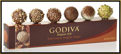 Godiva Truffle Flights™ #truffletakeoff