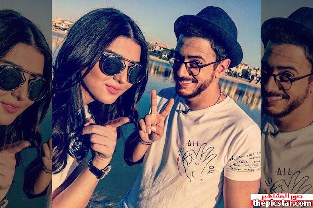 مريم سعيد مع المغني المغربي سعد المجرد