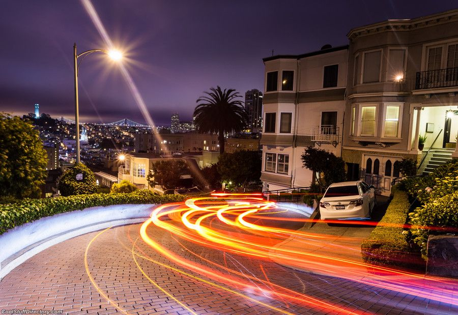 12. Lombard Street at Night by Anakin Yang