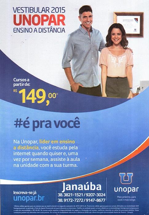 UNOPAR - Janaúba (38) 3821 1521/9172 7272/9207 3024/9147 8677