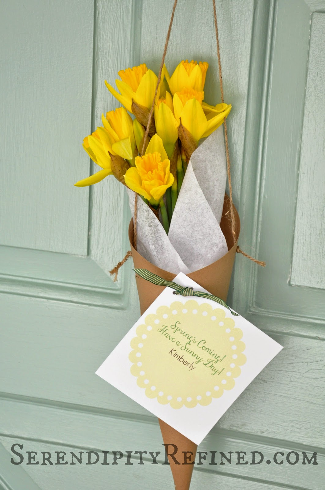 Serendipity Refined Blog Spring Paper Flower Cone Door