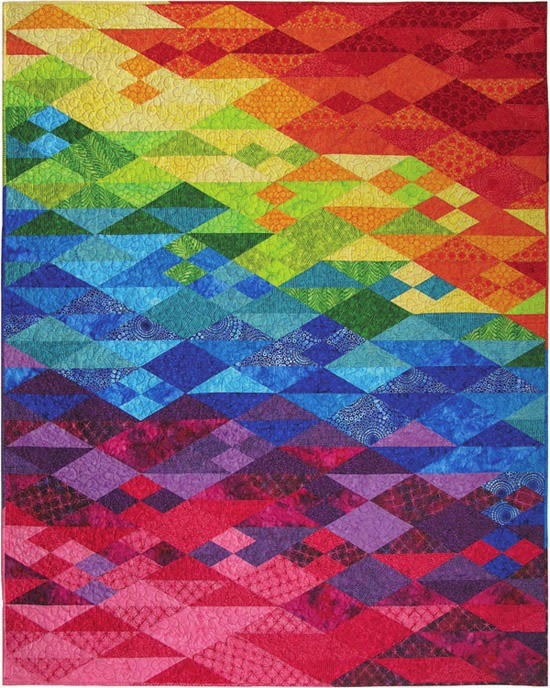 Free Batik Quilt Pattern via Hoffman Fabrics