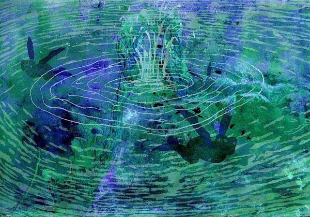 bajo el agua, gamusinos, abrevadero